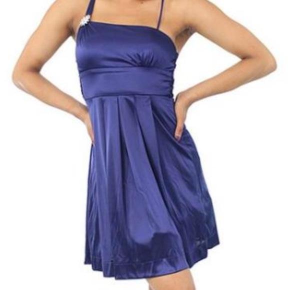 prom dress Dresses   Dark Blue Shiny Short Formal Dress Small   Poshmark